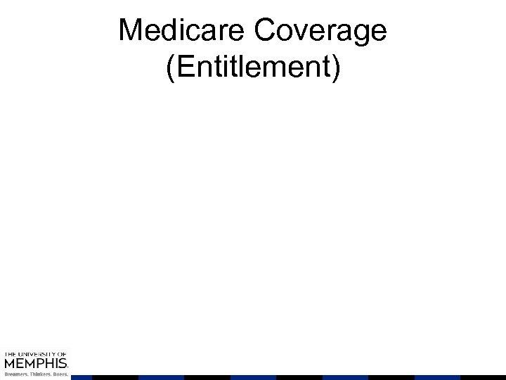 Medicare Coverage (Entitlement)