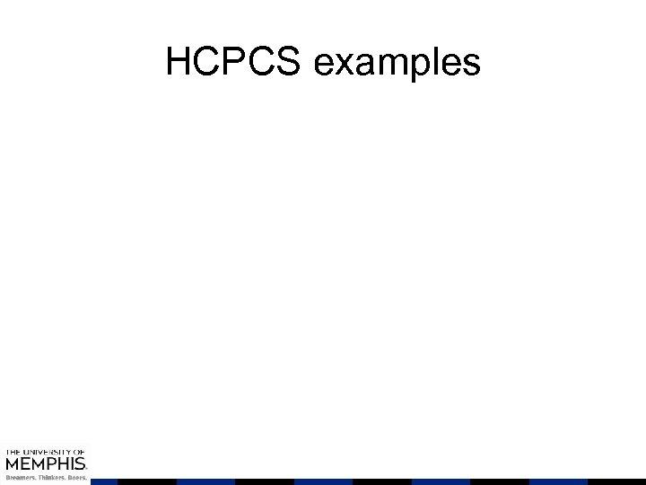 HCPCS examples