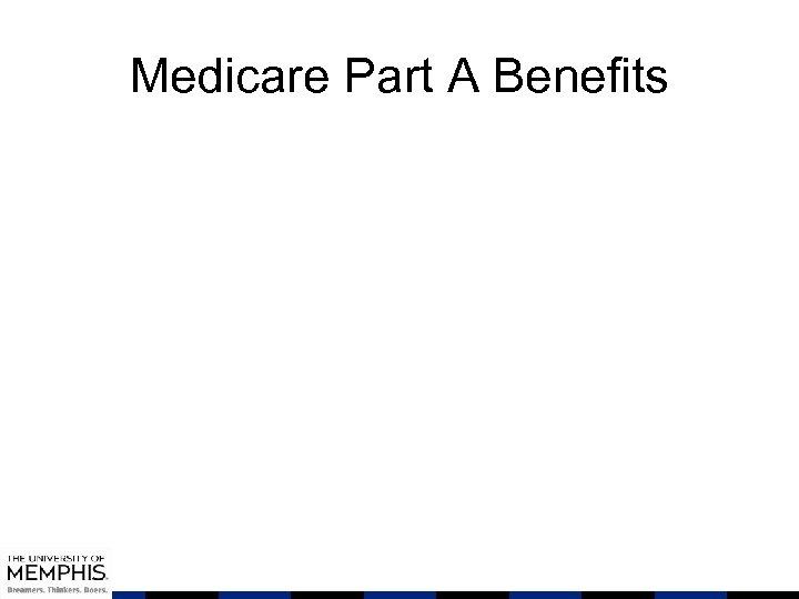 Medicare Part A Benefits