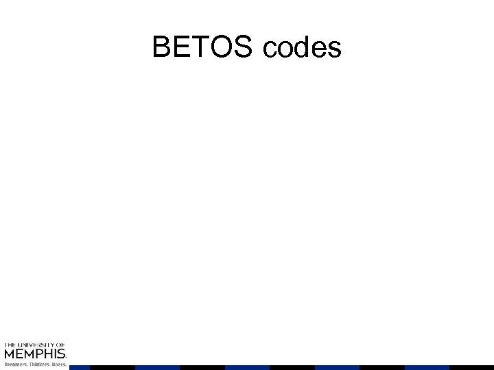 BETOS codes