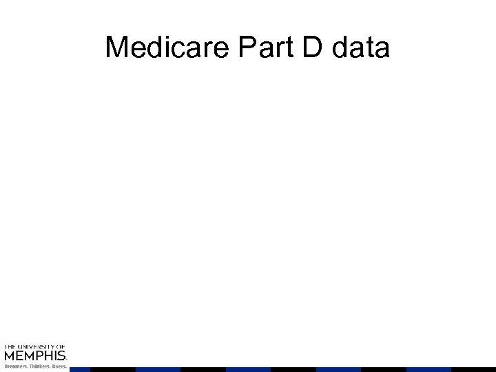 Medicare Part D data