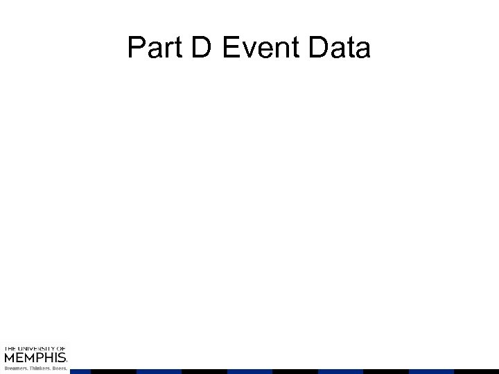 Part D Event Data