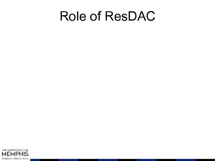 Role of Res. DAC