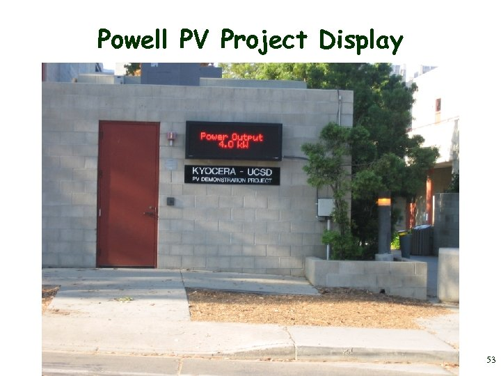 Powell PV Project Display 53
