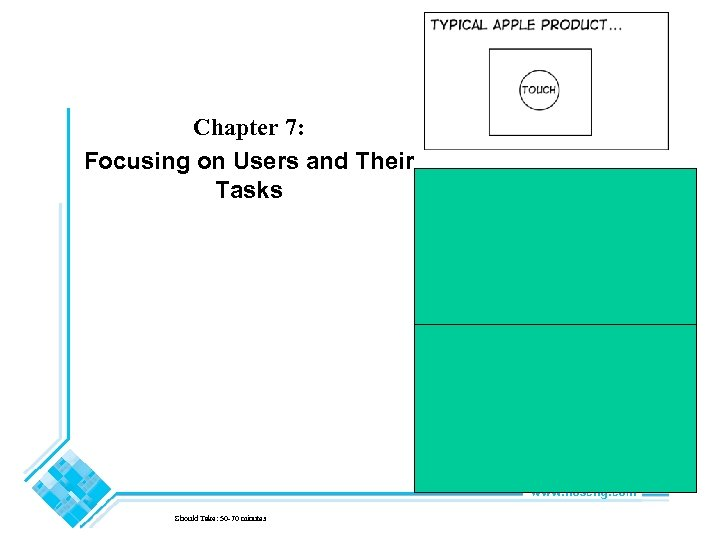 Chapter 7: Focusing on Users and Their Tasks Should Take: 50 -70 minutes