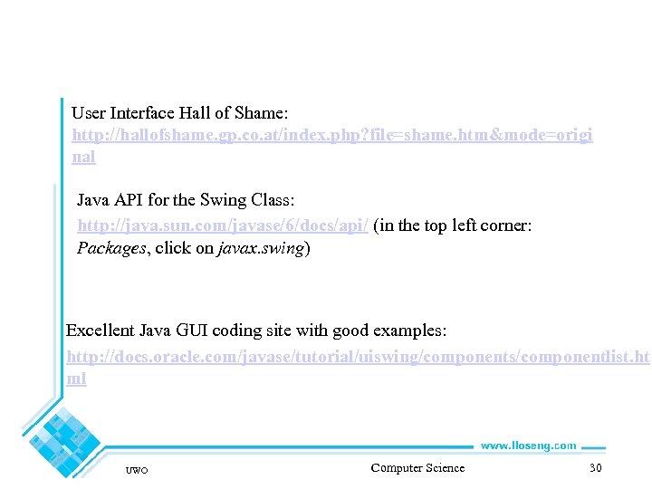 User Interface Hall of Shame: http: //hallofshame. gp. co. at/index. php? file=shame. htm&mode=origi nal