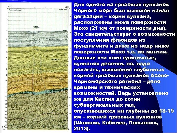 Для одного из грязевых вулканов Черного моря был выявлен канал дегазации – корни вулкана,
