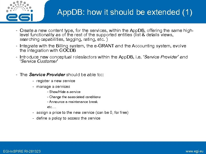 App. DB: how it should be extended (1) - Create a new content type,