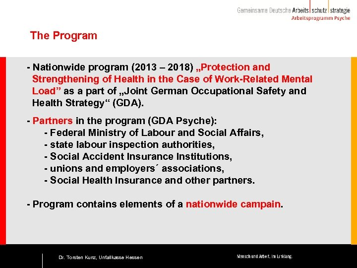 "The Program - Nationwide program (2013 – 2018) ""Protection and Strengthening of Health in"