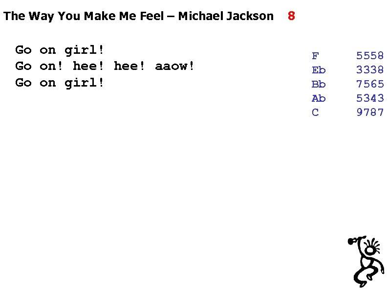 The Way You Make Me Feel – Michael Jackson Go on girl! Go on!