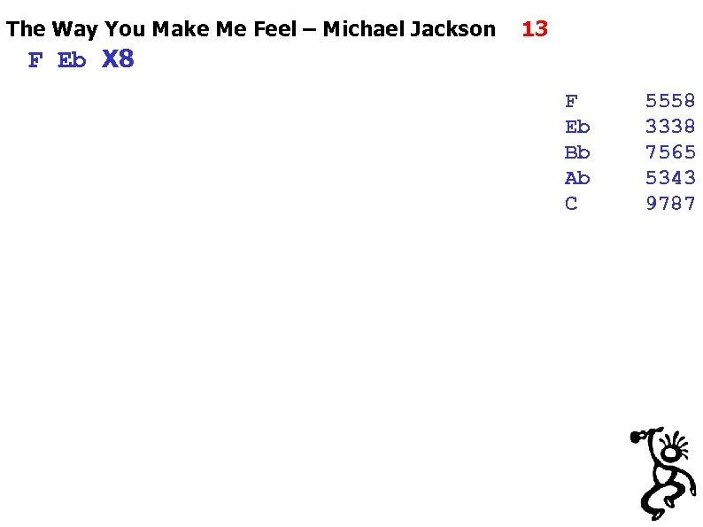 The Way You Make Me Feel – Michael Jackson 13 F Eb X 8