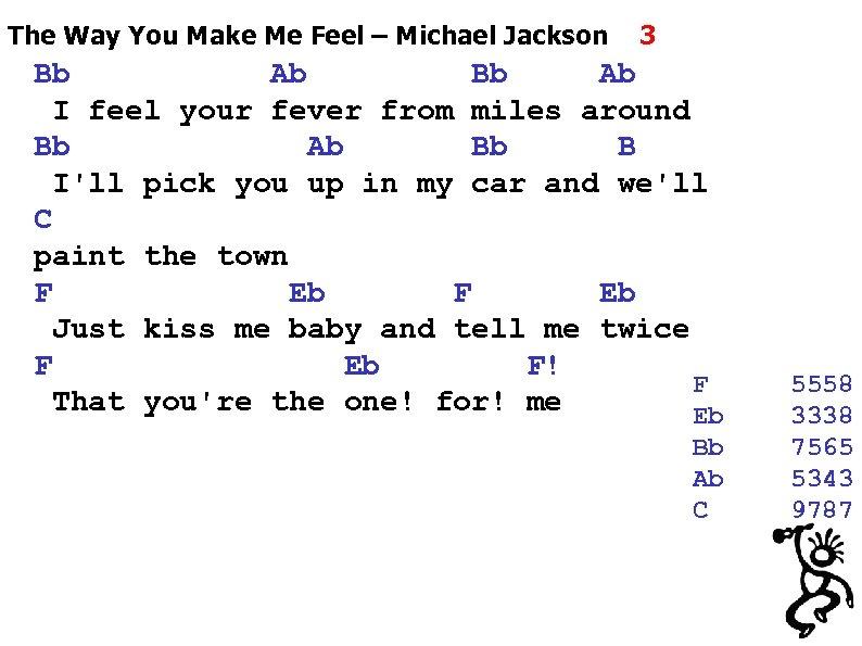 The Way You Make Me Feel – Michael Jackson 3 Bb Ab I feel