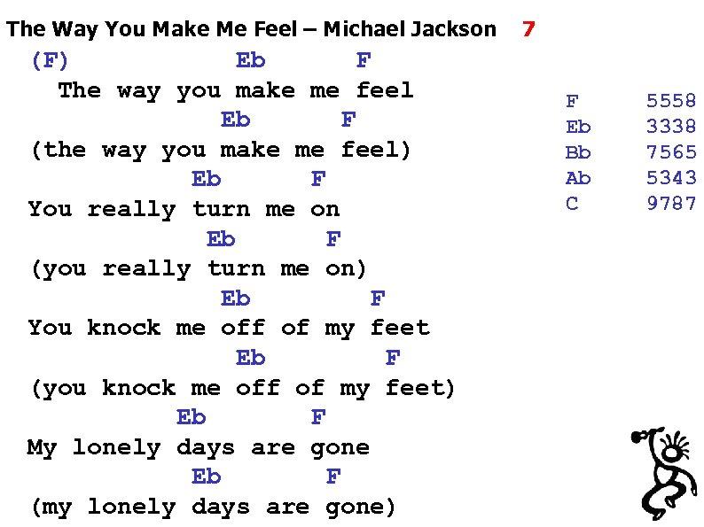 The Way You Make Me Feel – Michael Jackson (F) Eb F The way