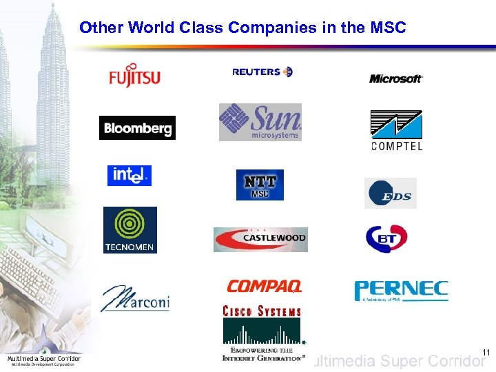 Other World Class Companies in the MSC 11