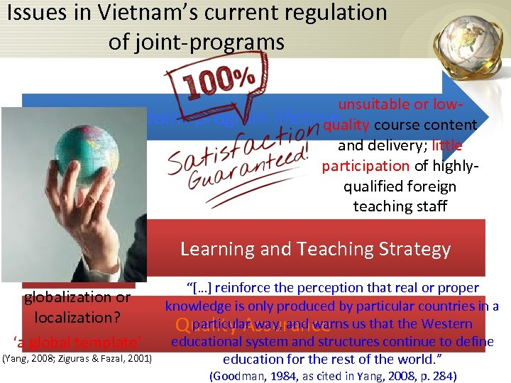 Issues in Vietnam's current regulation of joint-programs Partner selection unsuitable or low. Joint-program lifetime