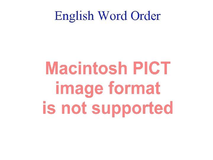 English Word Order 15