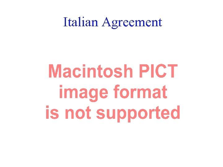 Italian Agreement 16