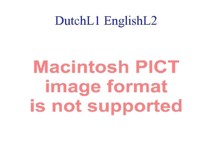 Dutch. L 1 English. L 2 36