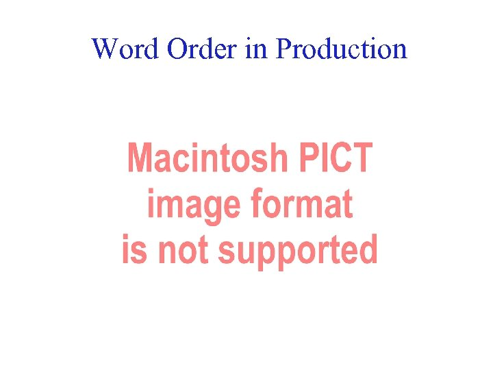Word Order in Production 44