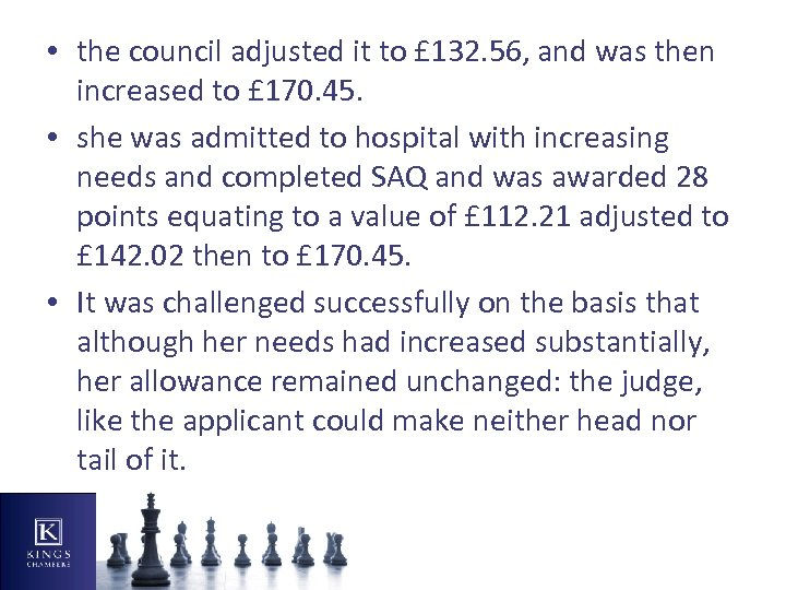 • the council adjusted it to £ 132. 56, and was then increased