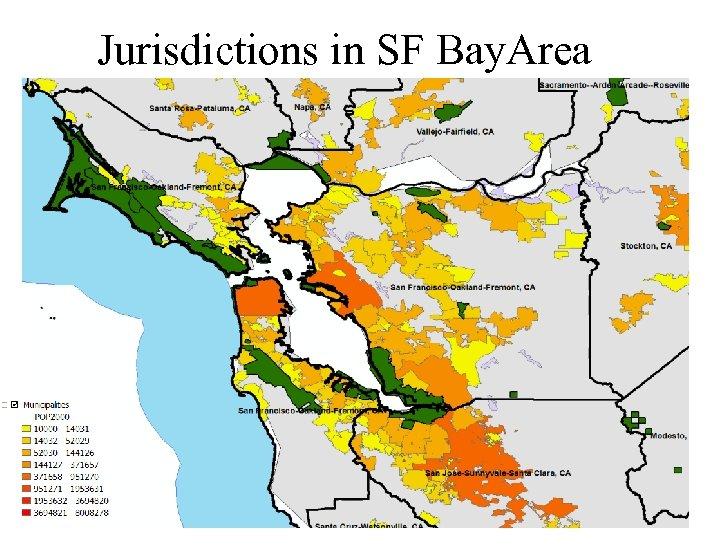 Jurisdictions in SF Bay. Area