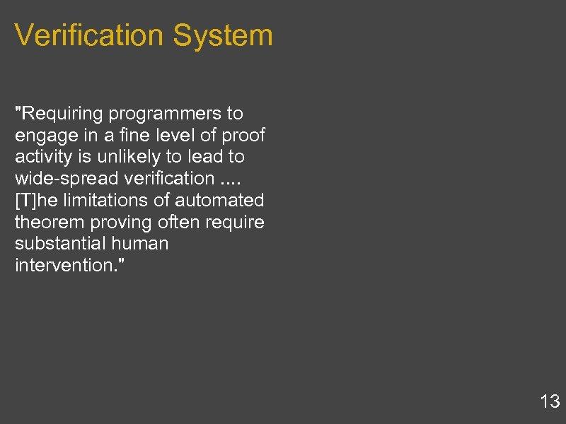 Verification System