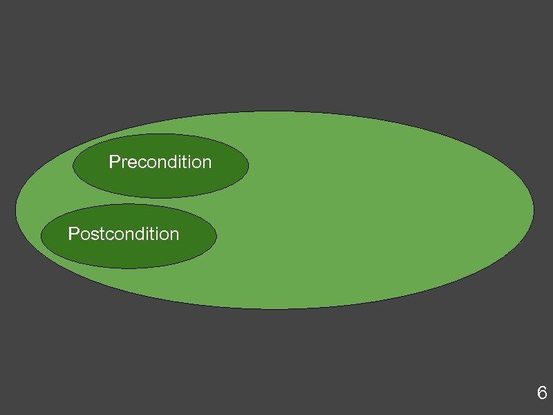 Precondition Postcondition 6