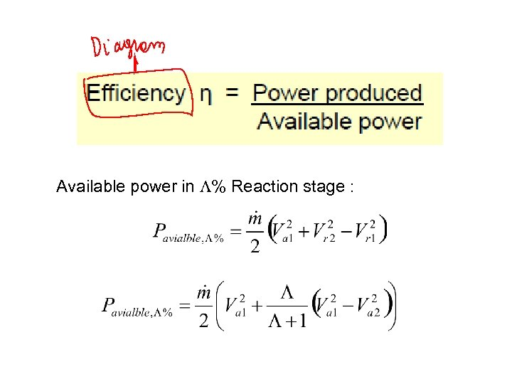 Available power in L% Reaction stage :