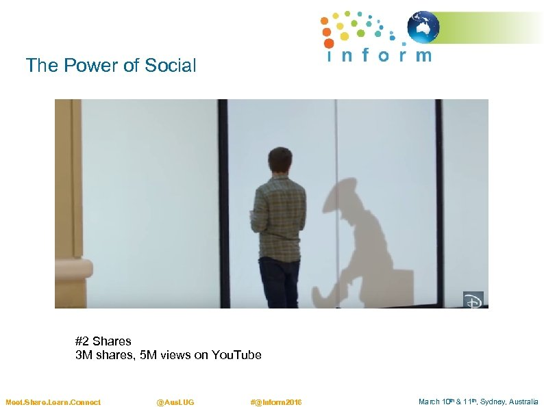 The Power of Social #2 Shares 3 M shares, 5 M views on You.