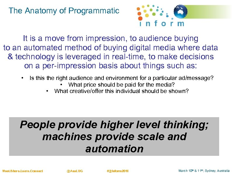 The Anatomy of Programmatic It is a move from impression, to audience buying to