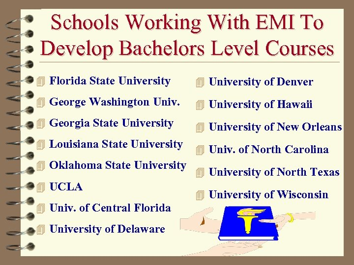 Schools Working With EMI To Develop Bachelors Level Courses 4 Florida State University 4