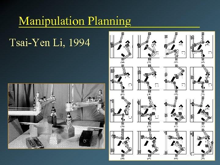 Manipulation Planning Tsai-Yen Li, 1994