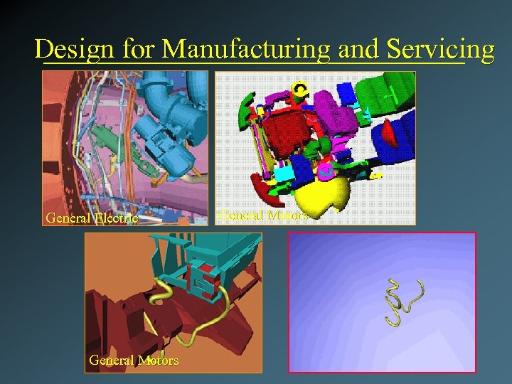 Design for Manufacturing and Servicing General Electric General Motors