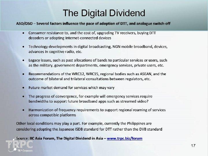 The Digital Dividend 17