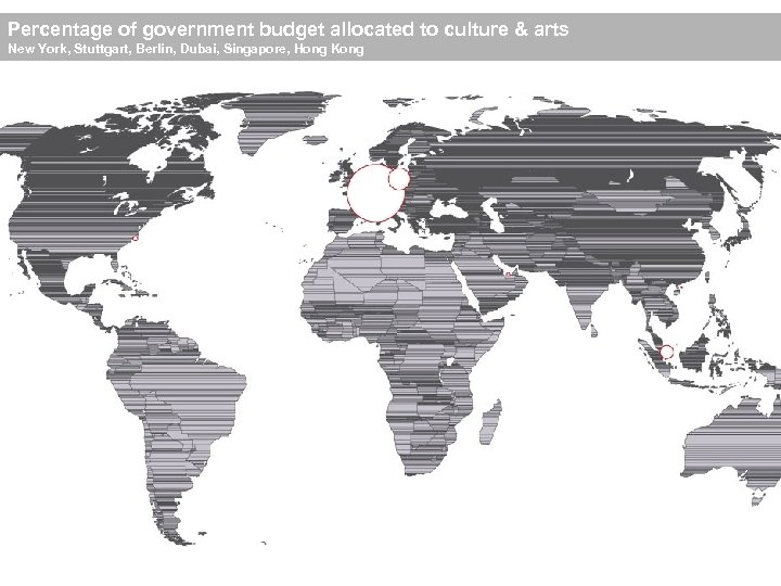 Percentage of government budget allocated to culture & arts New York, Stuttgart, Berlin, Dubai,