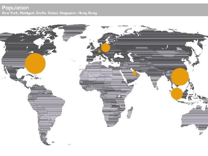 Population New York, Stuttgart, Berlin, Dubai, Singapore, Hong Kong