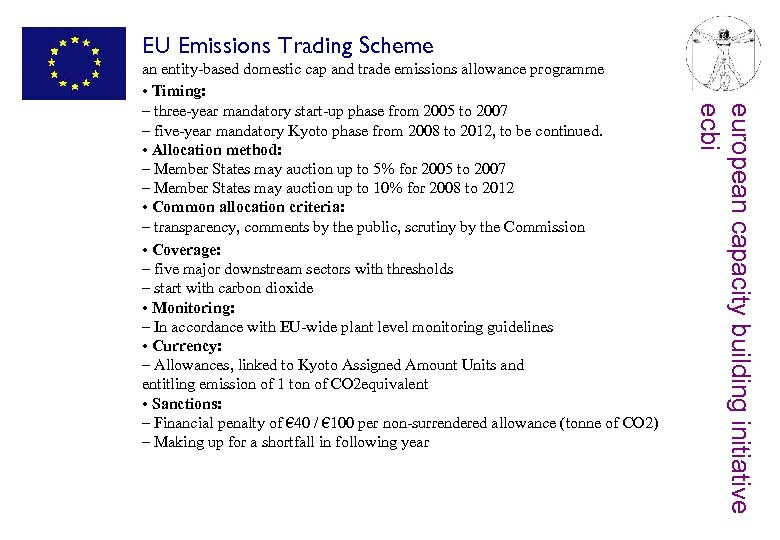 EU Emissions Trading Scheme european capacity building initiative ecbi an entity-based domestic cap and