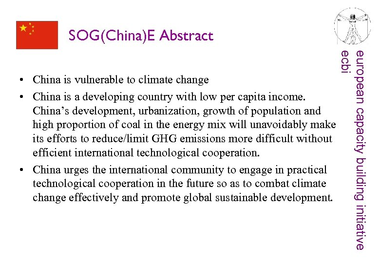 SOG(China)E Abstract european capacity building initiative ecbi • China is vulnerable to climate change