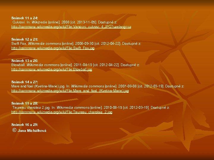 Snímek 11 a 24: Cukroví. In: Wikipedie [online]. 2006 [cit. 2013 -11 -05].