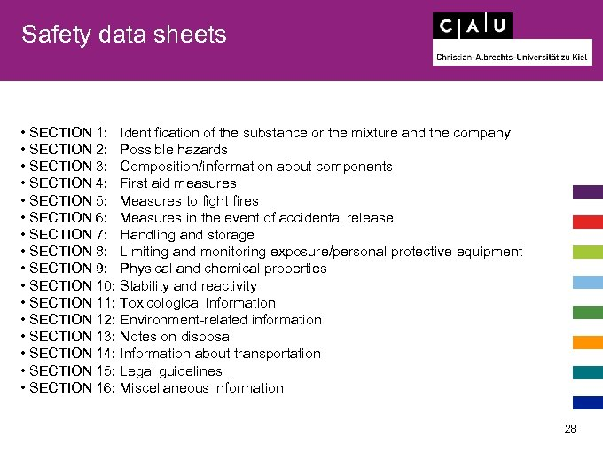Safety data sheets • SECTION 1: Identification of the substance or the mixture and