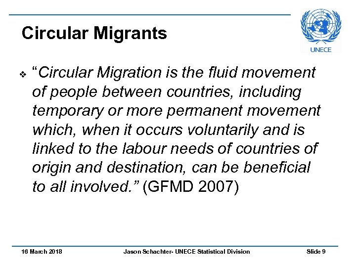 "Circular Migrants v ""Circular Migration is the fluid movement of people between countries, including"