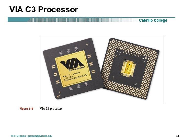 VIA C 3 Processor Rick Graziani graziani@cabrillo. edu 51