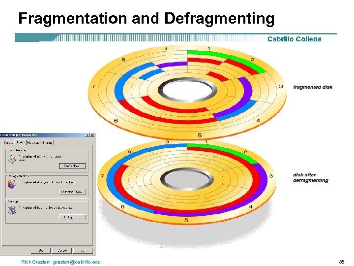Fragmentation and Defragmenting Rick Graziani graziani@cabrillo. edu 85