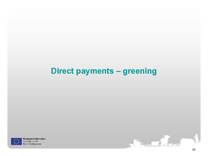 Direct payments – greening 20