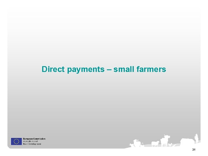 Direct payments – small farmers 28