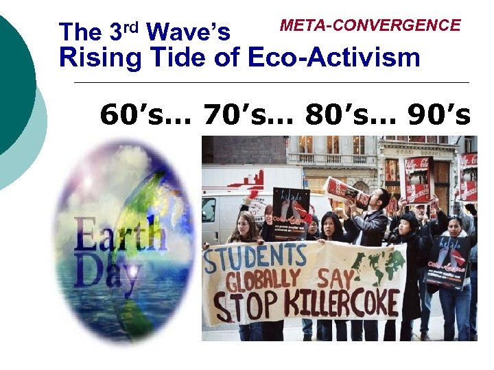 The 3 rd Wave's META-CONVERGENCE Rising Tide of Eco-Activism 60's… 70's… 80's… 90's