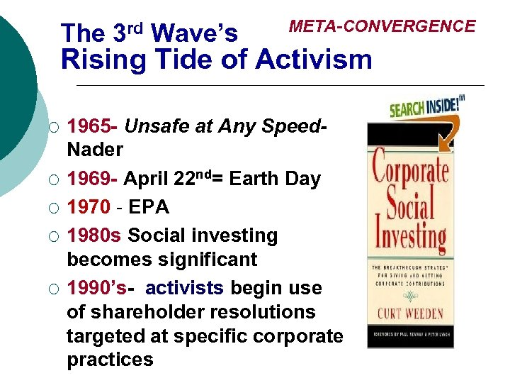 The 3 rd Wave's META-CONVERGENCE Rising Tide of Activism ¡ ¡ ¡ 1965 -