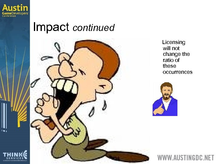Impact continued Licensing will not change the ratio of these occurrences