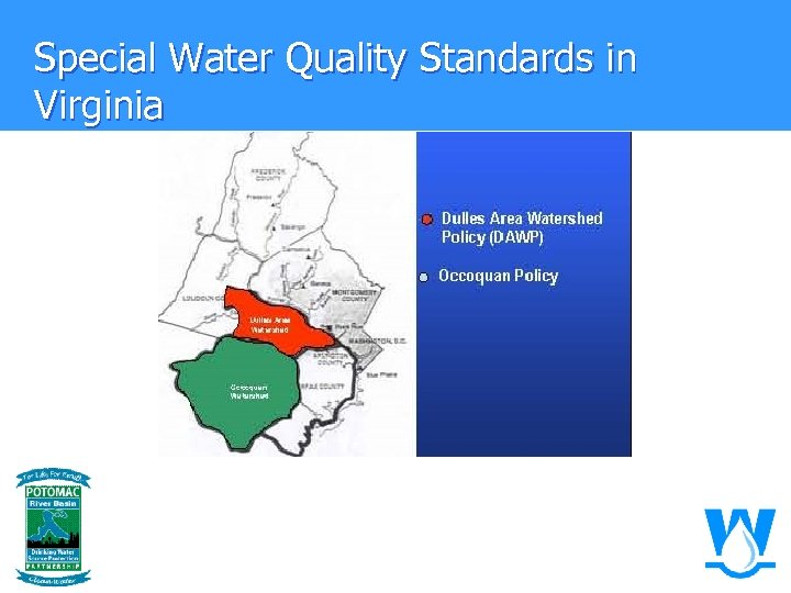 Special Water Quality Standards in Virginia