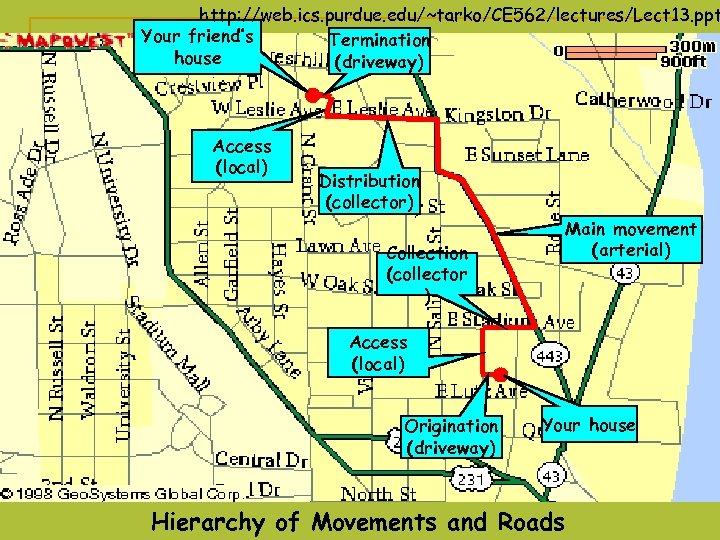 http: //web. ics. purdue. edu/~tarko/CE 562/lectures/Lect 13. ppt Your friend's Termination house (driveway) Access